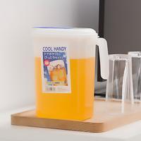日本进口冷水壶大容量塑料耐高温果汁耐热家用凉水壶加厚水壶水具