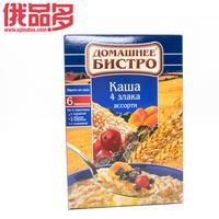 彼斯特罗 家庭装燕麦粥 什锦口味(杏干,蜂蜜和葡萄干,蔓越)速食 盒装 240g 6包 /