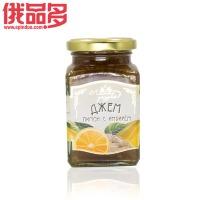 森林草原牌 四菱柠檬姜汁果酱 玻璃瓶装 300g