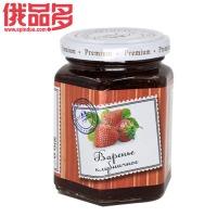 六楞瓶 草莓果酱 白盖 瓶装 230g