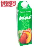 善良牌 善牌 桃-苹果味果汁饮料 1L