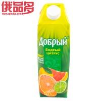 善良牌 善牌 柑橘味果汁饮料 1L