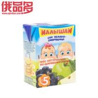 娃娃头 儿童果汁饮料 苹果和黑加仑 口味 适用于5个月以上儿童 0.2ml