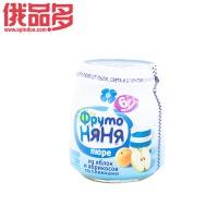 ABK  水果阿姨牌  鲜奶油苹果杏果泥瓶装 适用于6个月以上的婴儿 瓶装 100g