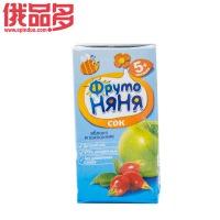水果阿姨 苹果和野蔷薇味果汁 饮料 适用于6个月以上的儿童 纯天然0.2ml