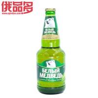 白熊啤酒淡色装 玻璃瓶装0.5升