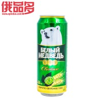 白熊啤酒淡色装 罐装 0.5升