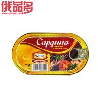 wilke 西红柿汁油炸沙丁鱼罐头 185g