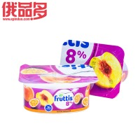 果肉益生菌酸奶(桃和百香果口味)8%酸奶