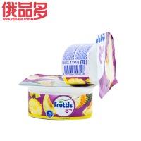 果肉益生菌酸奶(菠萝和哈密瓜口味)8%酸奶/