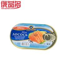 水域牌 鲑鱼罐头(纯天然大西洋鱼肉)添加欧米加3