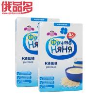 水果阿姨牌 儿童牛奶大米米糊 粥 适用于4个月以上宝宝 盒装 200g