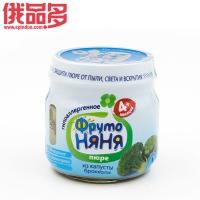 ABK  水果阿姨牌 西兰花蔬菜果泥  适用于4个月以上的婴儿 瓶装 80g