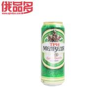 三只熊巴氏杀菌啤酒0.48L(罐装)