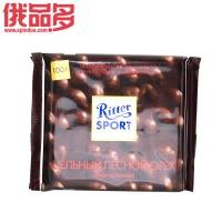 瑞特斯波德 Ritter sport    整颗榛仁黑巧克力100g