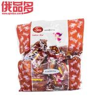 洁雅草莓味奶皮水果软糖250g
